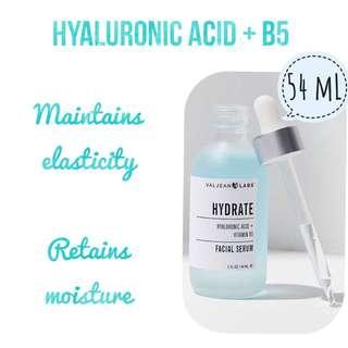 VALJEAN LABS HYDRATE HYALURONIC ACID + VITAMIN B5 FACIAL SERUM