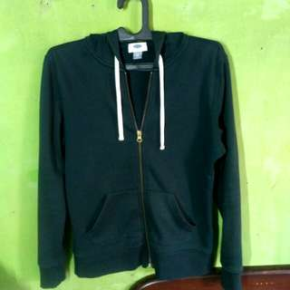 Zipper Hoodie Old Navy Dark Green (Bkn H&M,Uniqlo,Champion)
