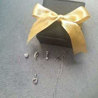 Kalung Emas Putih Mutiara / 925 Silver/ White Gold Necklace Pendant