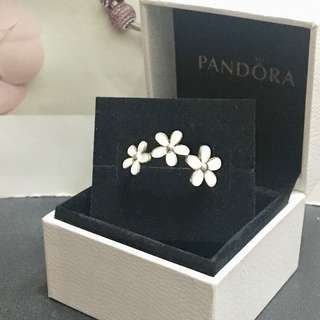 Pandora Links Daisy Retired 925 Silver Ring (size 54 not tiffany)