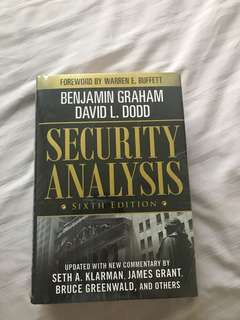 Security Analysis by Benjamin Graham 6th edition