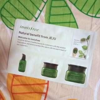 Innisfree green tea sample set