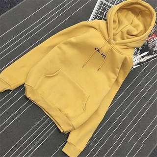yellow oh yes hoodie