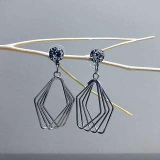 Earrings - Clear Crystal