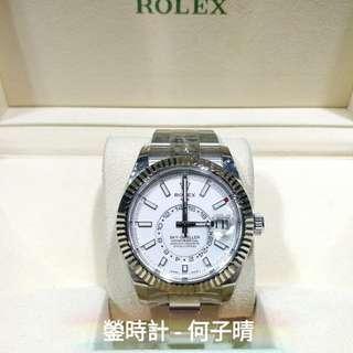 Rolex 326934 SKY-DWELLER 白面 亂碼藍光 行貨888  全套齊 95%極新淨 2017年尾錶 5年保養至2022年