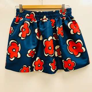 Red Valentino navy with red flowers skirt size 38