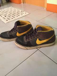 Nike SB (Black, Gray, Yellow Swoosh)