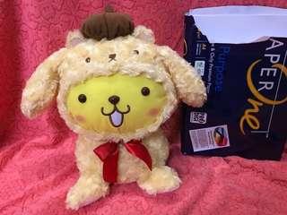 Pompompurin Baby 布甸狗 Deformed Big Plush in Teddy Bear