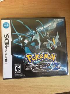 New Nintendo DS Pokémon Black 2 Factory Seal Sealed in a box game 3DS DS