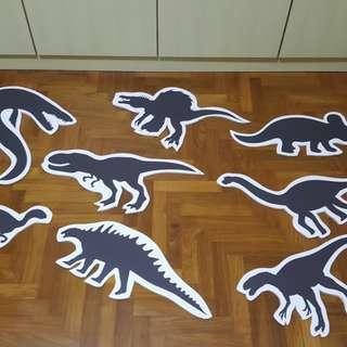 dinosaur foam cutouts