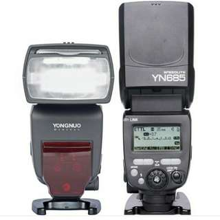 Yn 685 TTL speedlite for Canon