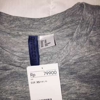 H&M Basic Tshirt Grey