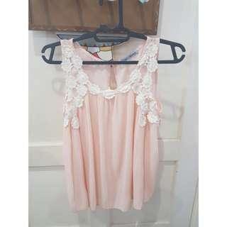 Flowy pink top