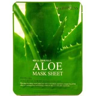 BARONESS Aloe Mask Sheet Made in KOREA 21g.