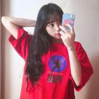 紅色顯白短袖T恤