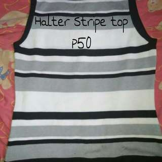 Halter stripe sando