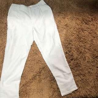 米白色老爺褲