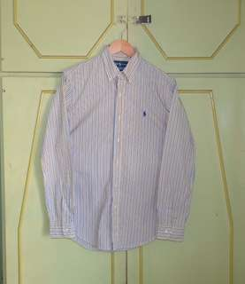Authentic Ralph Lauren Custom Fit Striped Button Down Shirt