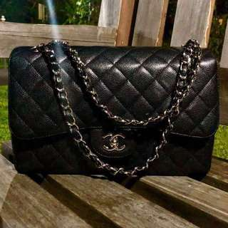 Excellent Condition Chanel Jumbo Caviar Double Flap