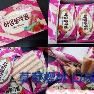 韓國 季節限定~CORWN草莓櫻桃威化酥