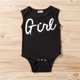 🦁instock - girl romper, baby infant toddler girl boy children sweet kid happy abcdefgh hello there