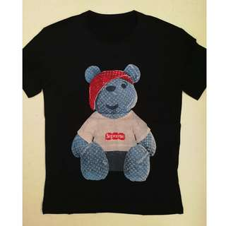 Louis Vuitton Supreme Bear Cotton T-shirt. 2 colours available.
