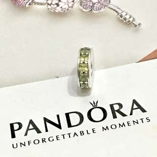 Pandora tiffany Green Crystal Spacer