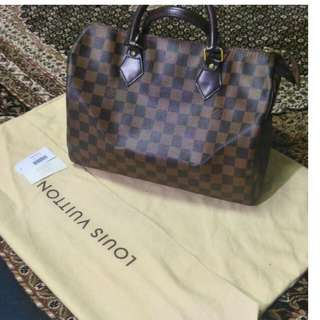 LV Speedy 30 Damier Ebene Louis Vuitton