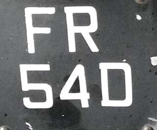 Motorcycle Number plate for sale. ( Two digit )