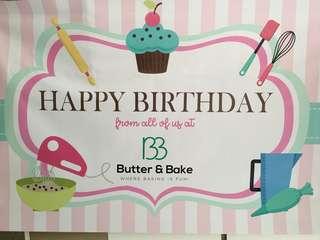 Happy Birthday Banner Fully Customised