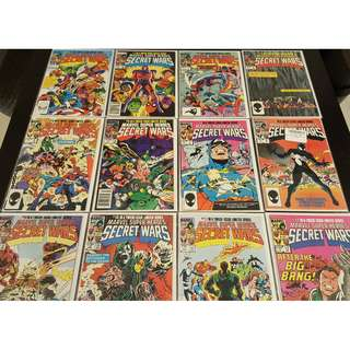 Marvel Super Heroes Secret Wars #1-12 (1984) Complete Set of 12 Books (AWESOMELY ICONIC!!)