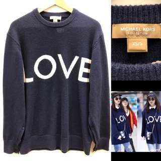 寬鬆衛衣 Michael Kors navy dark blue knitted sweater size XS S