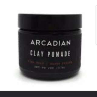 Arcadian clay pomade clearing stock