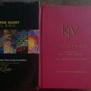 KJB and NLT Parallel Bible with FREEBIES
