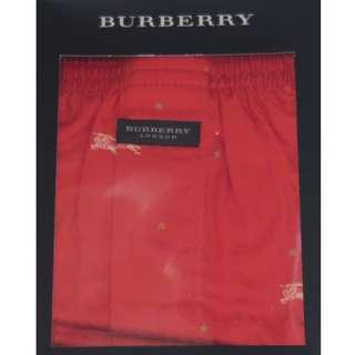 全新日本版 Burberry Boxer 紅色 Logo Pattern  [Size: M (76-84cm)] *** Made in Japan