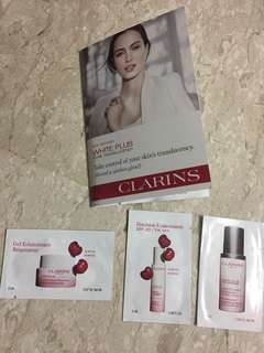 Clarins white plus gel, emulsion and intensive brightening serum