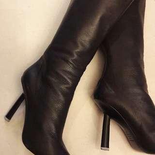 Bcbg leather knee high booths