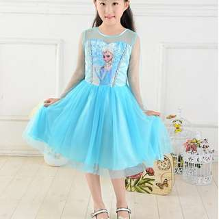 New Disney Frozen Elsa Costume Girls Dress 全新冰雪奇緣公主裙