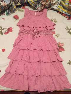 Juicy Couture ruffle one piece pink dress 連身裙