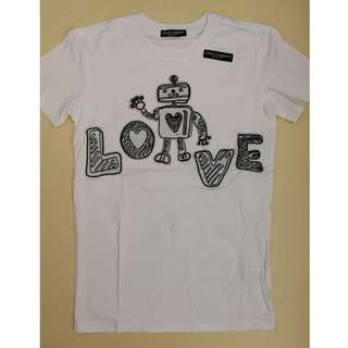 Dolce & Gabbana Love Robot Cotton T-shirt