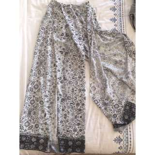 Sheike discontinued slit gypsy hippie pants