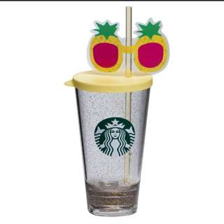 Starbucks Tumbler brand new pineapple with spectacles