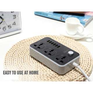 LDNIO 6 Port USB 3.4A universal Power Strip extension socket. 2500W charger dock. extensio