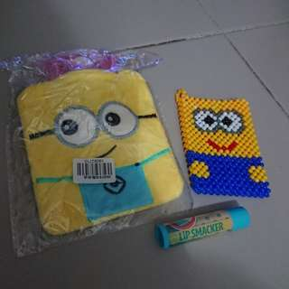 To bless Minion hand warmer cardholder and lip smacker