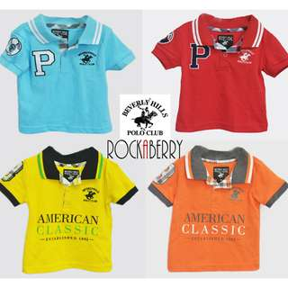 Beverly Hills Polo Club Shirt for Kids | Blue | Red | Yellow | Orange