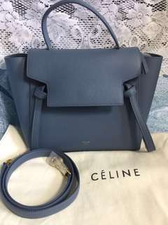 Celine belt bag micro in blue