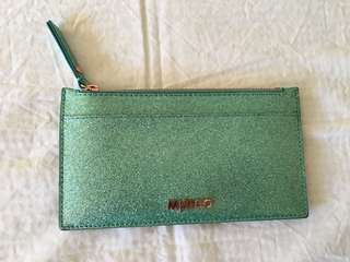 Mimco blue/real/aqua/green glitter sparkly wallet card holder