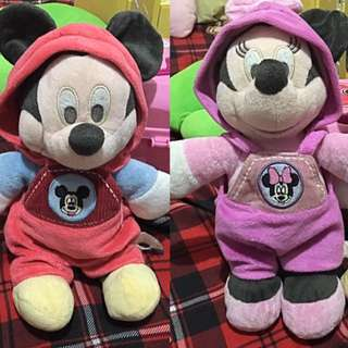 Mickey Mouse and Minnie Mouse Plush Toy Set
