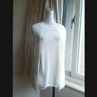 iROO 漂亮純色斗篷針織衫