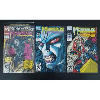 Morbius the Living Vampire #1-3  (1992) Set of 3 Books (Guest-starring GHOST-RIDER & SPIDERMAN!)